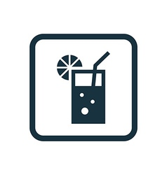 Cocktail icon Rounded squares button vector
