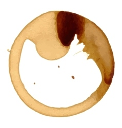 coffee stain cup spots vector image