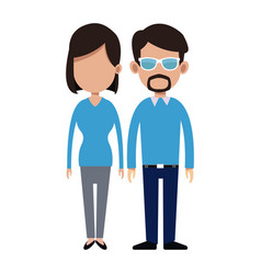 couple people relationship together vector image