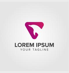 Creative luxury dolphin logo concept design vector