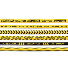 danger tapes caution warning no cross police line vector image