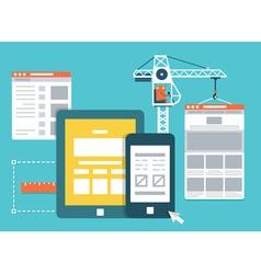 Development skeleton framework a website vector