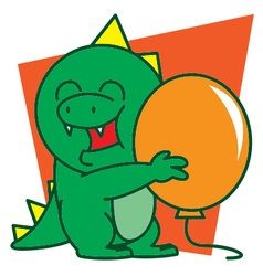 Dinosaur and Balloon vector image