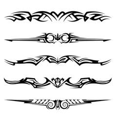 Dividers tribal tattoo elements vector