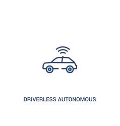 Driverless autonomous car concept 2 colored icon vector