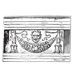 Encarpus in architecture vintage engraving vector