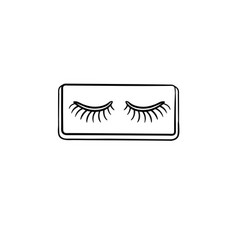 False lashes hand drawn sketch icon vector
