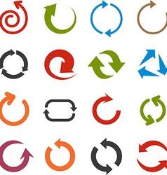 Flat arrow icons vector image