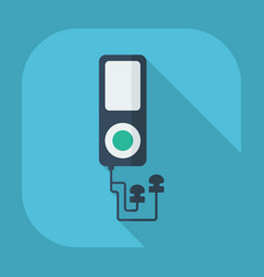Flat modern design with shadow mp3 player vector