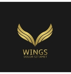 Golden wings logo vector