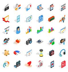 good design icons set isometric style vector image
