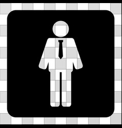 groom rounded square vector image