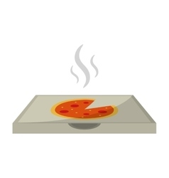 hot pizza delivery box vector image