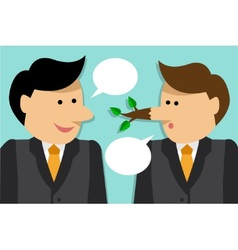 liar engaged in dialogue vector image