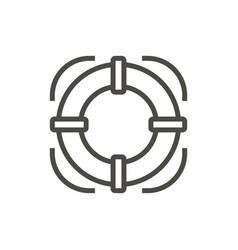 Life buoy icon line lifebelt symbol isolat vector