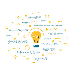 Light bulb and science ideas vector