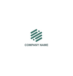 Line technology abstract company logo vector
