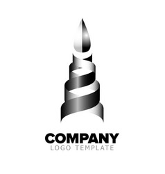 Logo template abstract object vector