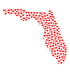 Lovely mosaic map of florida state vector