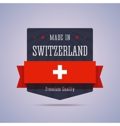 Made in Switzerland badge vector image
