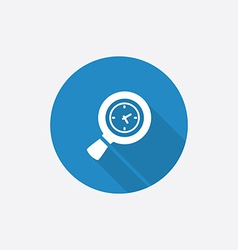 magnifier Flat Blue Simple Icon with long shadow vector image