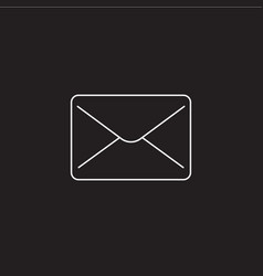 mail line icon message outline logo vector image