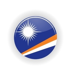 Marshall Islands icon circle vector image