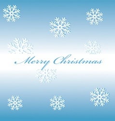 Merry Christmas snowflakes on a blue background vector image