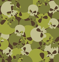 Military texture of skulls Camouflage army vector
