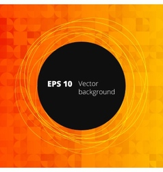 Mosaic from circle and square elements for your vector image
