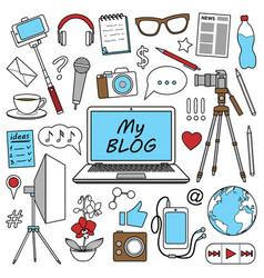 My blog set vector