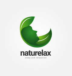 nature relax healthcare logo sign symbol icon vector image