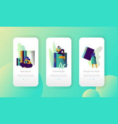 online ebook library modern university mobile app vector image