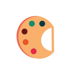 palette color artistic education school icon vector image