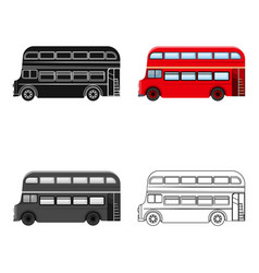 passenger bus single icon in cartoonist vector image