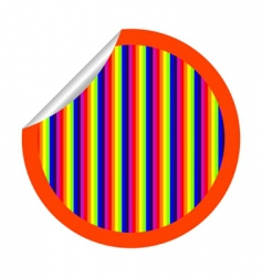 rainbow stripes sticker vector image