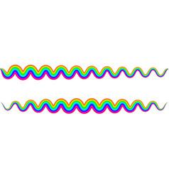 Rainbow zigzag snake wave wavy spring symbol vector