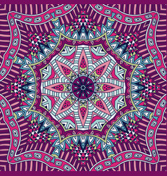 repeating geometric doodle design mandala pattern vector image