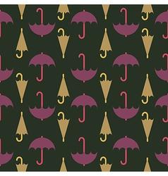 retro seamless pattern umbrella vector image