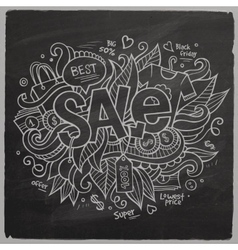 Sale hand lettering On Chalkboard vector image