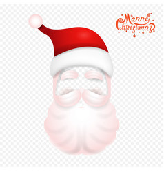 santa claus christmas mask on backgroundsanta vector image