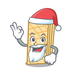 Santa waffle mascot cartoon style vector