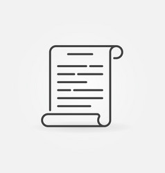 Scroll outline icon vector