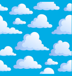 Seamless background with clouds 3 vector