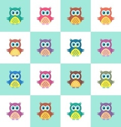 Seamless christmas pattern with owls vector