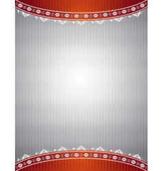silver background with decorative ornaments vector image