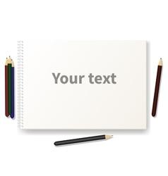 Sketch pad with pencils vector