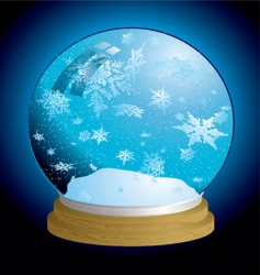 snow globe light vector image