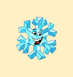 snowflake cute smiley face character vector image