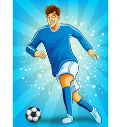 Soccer Player Dribble a Ball vector